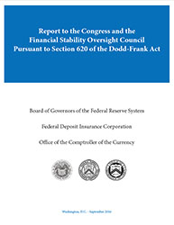 Report to the Congress and the Financial Stability Oversight Council Pursuant to Section 620 of the Dodd-Frank Act Cover Image
