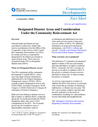 Community Affairs Fact Sheet: August 2018 Cover Image