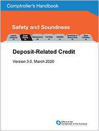 Comptroller's Handbook: Deposit-Related Credit Cover Image