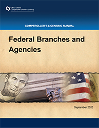 Licensing Manual - Federal Branches and Agencies Cover Image
