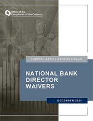 Licensing Manual - National Bank Director Waivers Cover Image