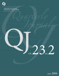 Quarterly Journal Volume 23 No. 2 Cover Image