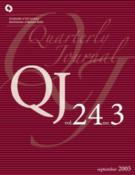 Quarterly Journal Volume 24 No. 3 Cover Image