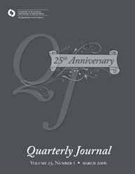 Quarterly Journal Volume 25 No. 1 Cover Image