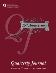 Quarterly Journal Volume 25 No. 4 Cover Image