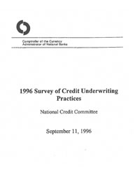 Survey of Credit Underwriting Practices 1996 Cover Image