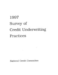 Survey of Credit Underwriting Practices 1997 Cover Image