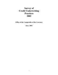 Survey of Credit Underwriting Practices 2002 Cover Image