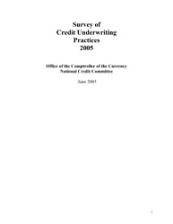 Survey of Credit Underwriting Practices 2005 Cover Image
