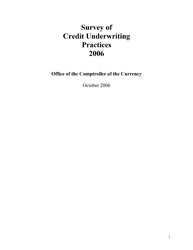 Survey of Credit Underwriting Practices 2006 Cover Image