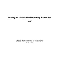 Survey of Credit Underwriting Practices 2007 Cover Image