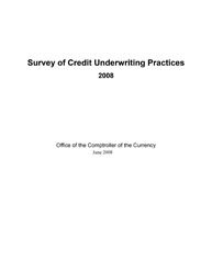 Survey of Credit Underwriting Practices 2008 Cover Image